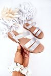 Children's Shiny Sandals Silver Natalie