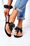 Flat Sandals With A Bow Lu Boo Black