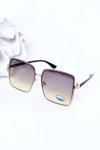 Gold Square Sunglasses Green Ombre