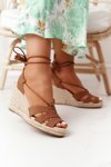 Lace-up Braided Wedge Sandals Big Star AA274591 Brown