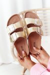 Leather Profiled Slippers Big Star HH274896 Golden