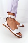 Leather Sandals Big Star HH274722 White