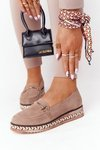 Loafers On A Platform Laura Messi 2284 Light Brown