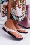 Lu Boo Beige Tied Japanese Sandals Florence