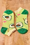 Mismatched Socks With Avocado Green