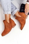Openwork Boots On The Wedge S.Barski Camel