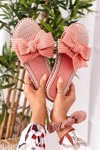Rubber Slippers With Pink Gabriell Bow