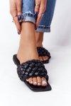 Women's Braided Slippers Black Cheryl
