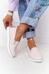 Women's Leather Slip-On Sneakers S.Barski Beige