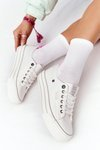 Women's Sneakers On A Platform BIG STAR HH274052 White