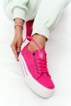 Women's Sneakers On A Platform BIG STAR HH274054 Fuchsia