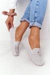 Women's Suede Loafers S.Barski Grey