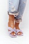 Women's Suede Slippers Purple Vanilla Sky