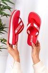 Women's Wedge Sliders Flip-Flops Big Star HH274A095 Red
